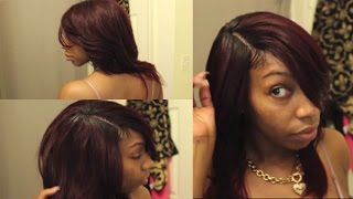 Realistic Invisible Part| Quick Weave + Making Baby Hairs| Kennysweets
