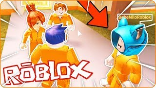 DRINK MILO HELPS US TO ESCAPE THE CARCEL!! 😱👀BEBE TIMO MILO VITA and MORA at ROBLOX