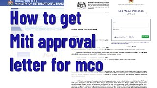 How To Get Miti Approval Letter For MCO
