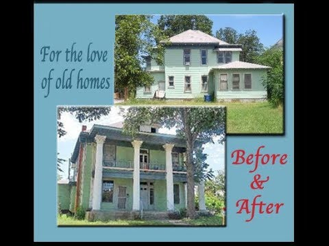 1910 Classical Revival Renovation Before and After (downstairs)