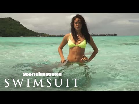 Irina Shayk Swims with Sharks in Tahiti