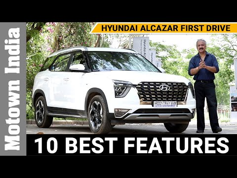 10 Smart Features of New Hyundai Alcazar | First Drive | Motown India