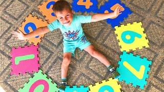 Учимся считать на английском от 1 до 10   Играем в прятки с цифрами