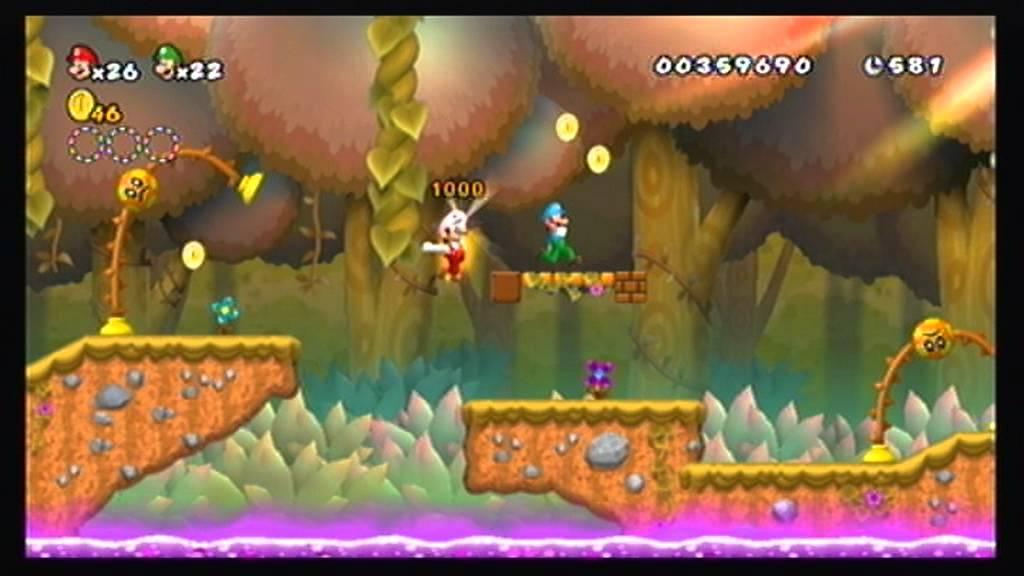 Cannon Super Mario Bros Wii Co Op 100 Walkthrough Part 2