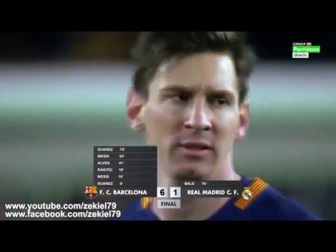 مفاجأة بالفيديو : برشلونة يفوز على ريال مدريد 6-1 في الكلاسيكو الأخير HD