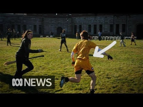 The golden snitch in real-life quidditch | ABC News