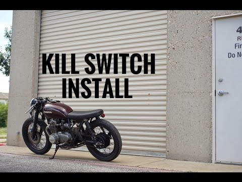 How to install a kill switch | CB550 - YouTube Kill Switch Wiring Diagram For Harley Motorcycle on 3 wire spa motor wiring diagram, 1999 harley-davidson electra glide wiring diagram, motorcycle horn wiring diagram, mod box wiring diagram, honda obd1 fuel injector wiring diagram,