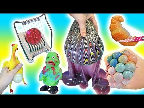 Cutting Open Squishy ZOMBIE Toys! GIANT...