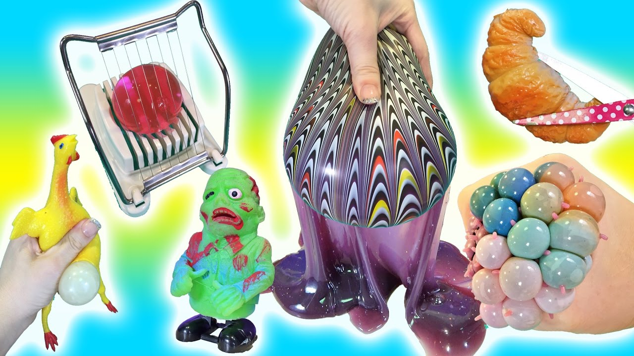 Giant Squishy Toys : Cutting Open Squishy Toys! Giant Orbeez in an Egg Slicer Doctor Squish - YouTube