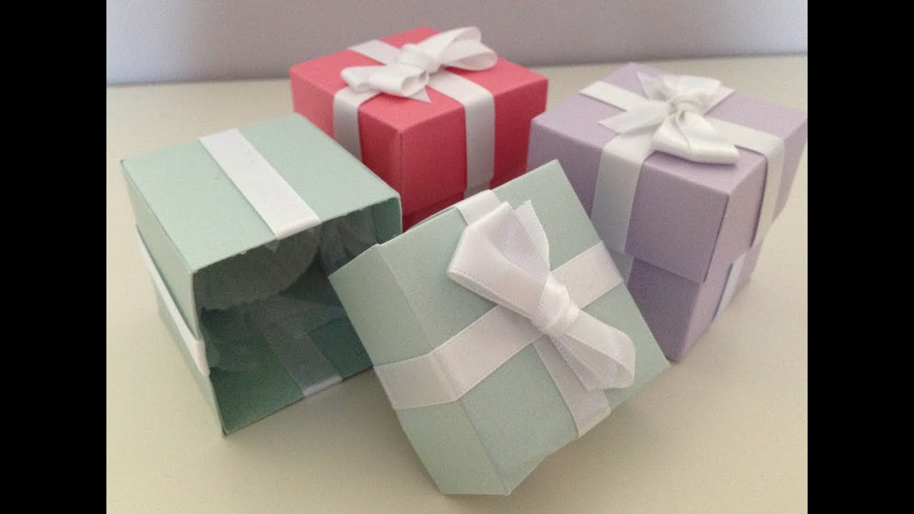 Tiffany Inspired Wedding Favour Boxes Tutorial Youtube