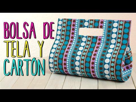 Bolsa de Tela , Paso a Paso Sin coser , Bolso de Fiesta de Cartón , Catwalk Cartonaje , YouTube