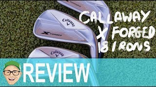 CALLAWAY X FORGED 18 IRONS