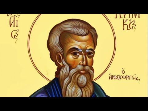 Церковный календарь 12 октября 2018. Преподобный Кириак отшельник (556)