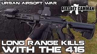 Long Range Kills with a Tokyo Marui HK416D - First & Only Anzio Camp - TM 416 Scopecam BB Gun War