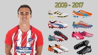 The Evolution of Antoine Griezmann's Boots 2009 - 2017
