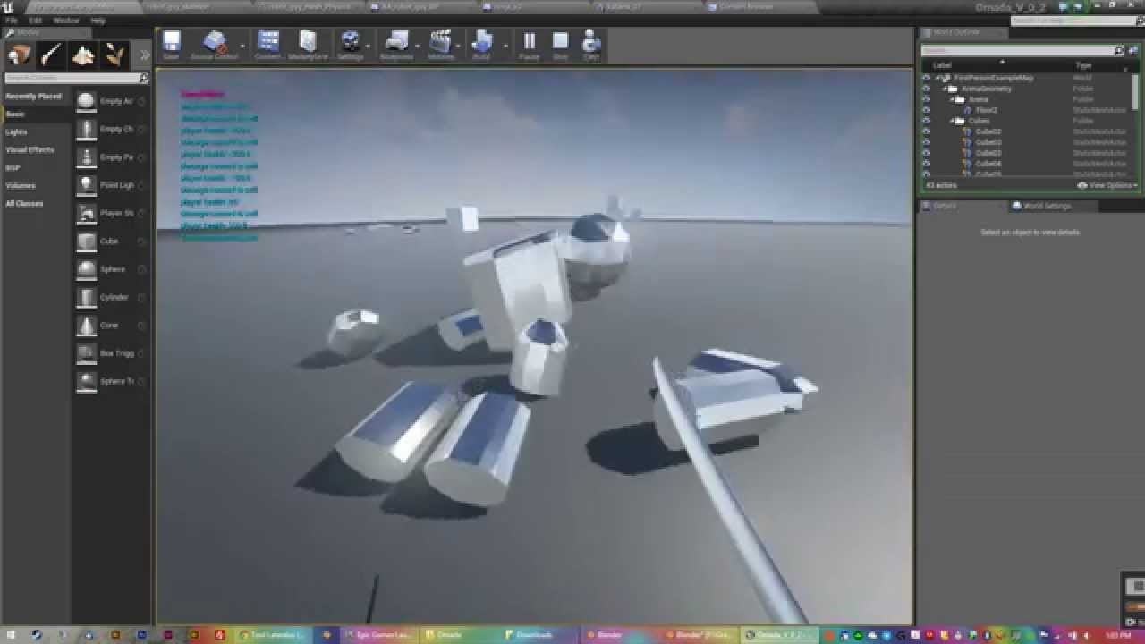 Dismember enemies in Unreal Engine 4 - how to create a physics asset that  falls apart when destroyed