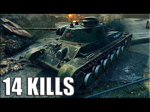 А-43 мастер  14 ФРАГОВ за бой World of Tanks thumbnail