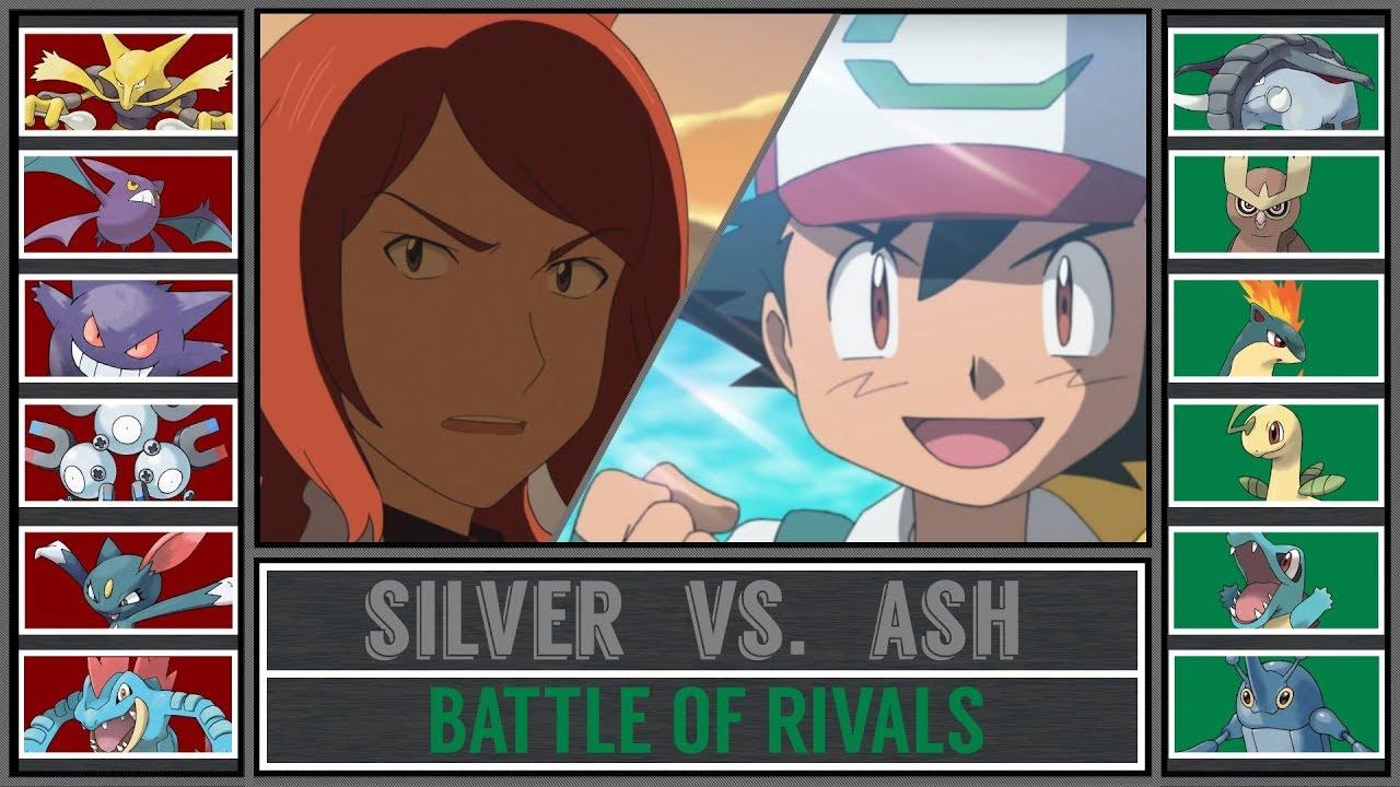 731788ed0b4 Ash vs. Silver (Pokémon Sun Moon) - Johto Rival Battle! - YouTube