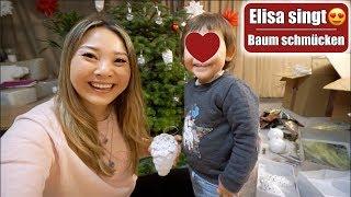 Elisa singt Bruder Jakob 😍 Weihnachtsbaum schmücken mit den Kindern | Familienleben | Mamiseelen