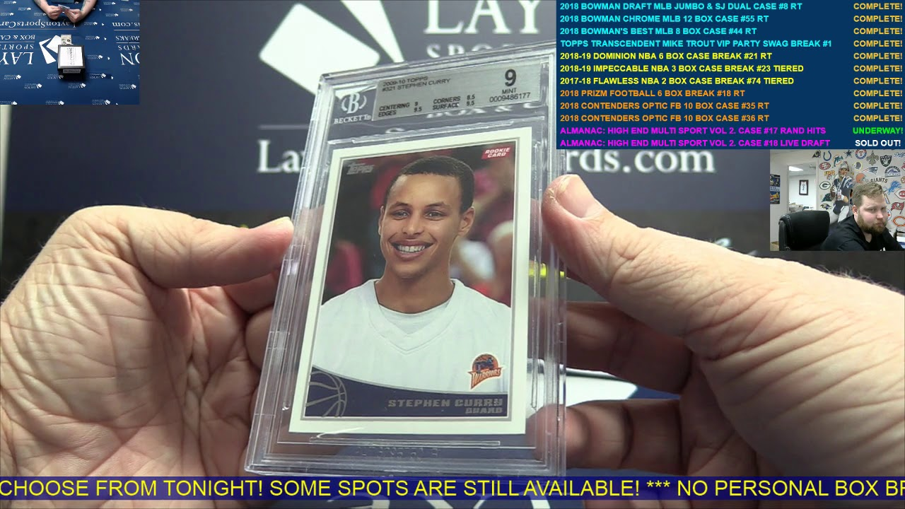 The Sports Card Almanac: High End Multi Sport Volume Two  – 3 Box Case Break #18 - LIVE HIT DRAFT