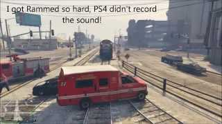 Train vs Cars = Explosion Compilation #GTAOnline #PS4share