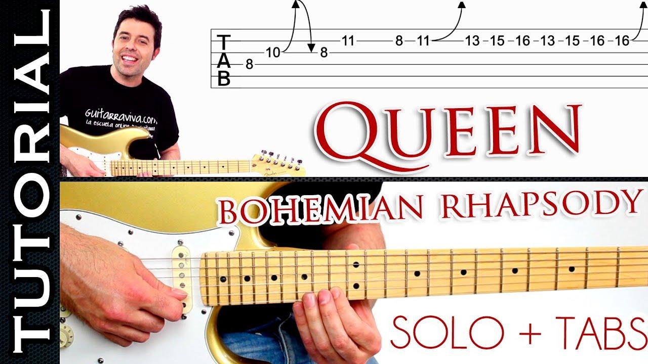 Download Como tocar Bohemian Rhapsody de QUEEN en guitarra SOLO tutorial