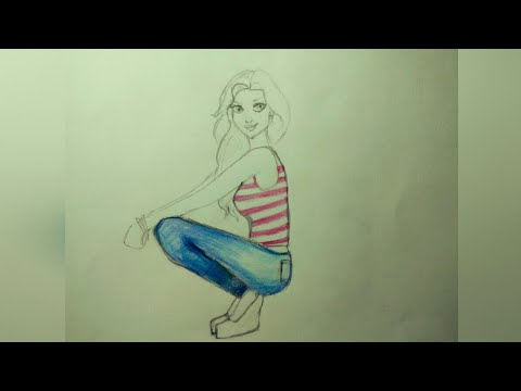 Drawing A Girl With Colour Pencil Beautiful Simple Youtube This beautiful collection of contemporary paintings serves as a workbook of ideas for aspiring artists, art students, professional designers, and art lovers alike. drawing a girl with colour pencil beautiful simple