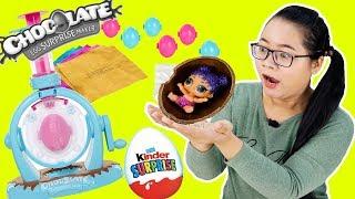 ĐỒ CHƠI MÁY LÀM QUẢ TRỨNG SOCOLA BẤT NGỜ - Kinder Surprise Eggs