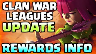 Clan War Leagues Update I Rewards Information I Clash Of Clans I 2018