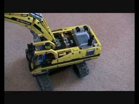 technic lego set 8043 remote control excavator in action youtube. Black Bedroom Furniture Sets. Home Design Ideas