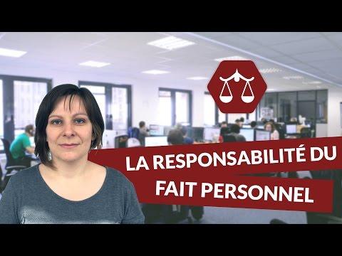 La responsabilité du fait personnel - Droit - digiSchool