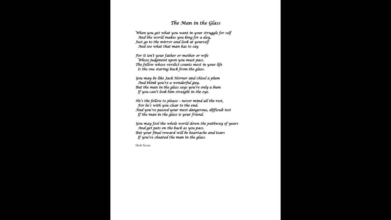 man in the glass poem