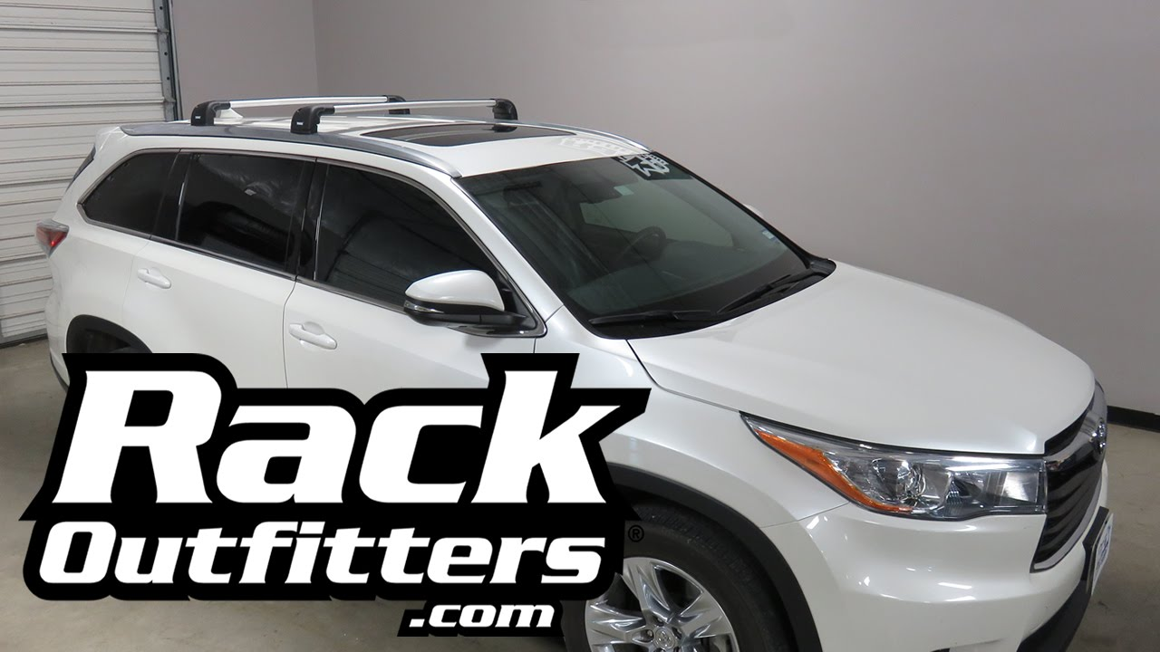 Toyota Highlander Thule Aeroblade Edge Roof Rack From Rack