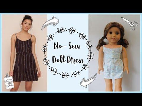 DIY No-Sew Doll Dress || Recreating Clothing