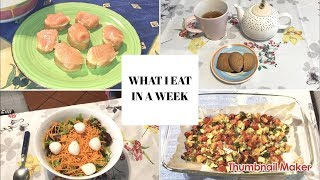 WHAT I EAT IN A WEEK - ITA - DIETA EDITION!