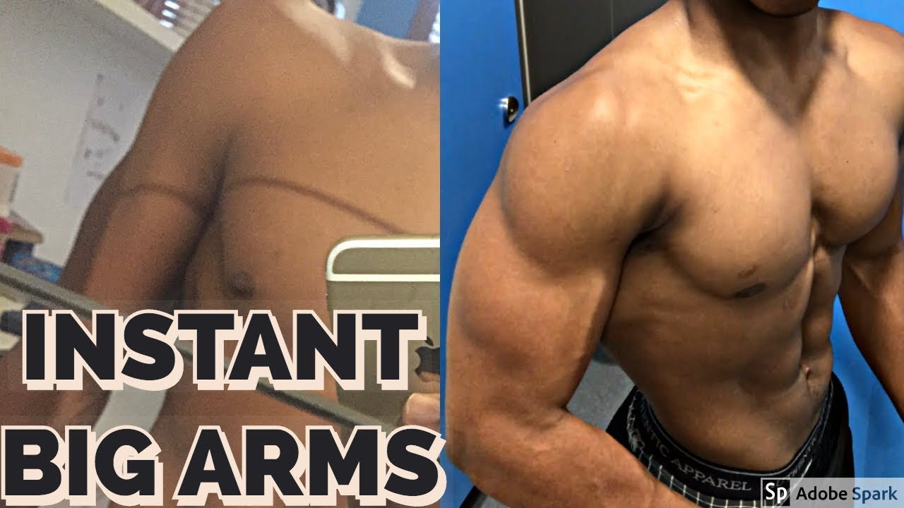 How To Get Big Arms For Skinny Guys Teenagers Ectomorphs Get Bigger Biceps And Triceps Fast Youtube