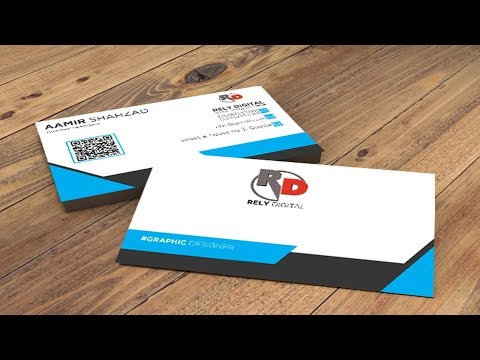 Business Card Design 2 Sided in Photoshop CC 2018 - Episode 3| Hindi / Urdu Tutorial thumbnail