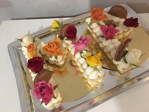 →-number-cake,-recette-facile-/-حلوى-سهلة-مزينة-بالورد