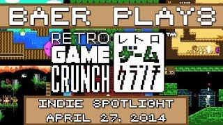 Baer Plays Retro Game Crunch (Indie Spotlight - April 27, 2014)