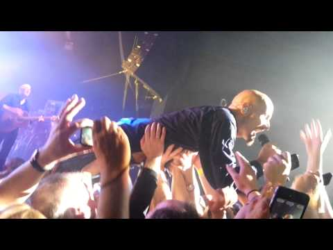 James - Just Like Fred Astaire Live Newcastle O2 Academy 2013 - Tim Booth surfing the crowd