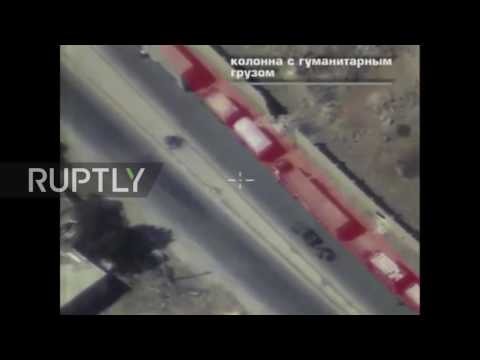 Syria: Footage shows attacked aid convoy being followed by militants