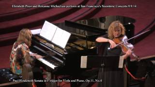 Elizabeth Prior and Roxanne Michaelian perform: Paul Hindemith Sonata in F major Op.11, No.4 Thumbnail