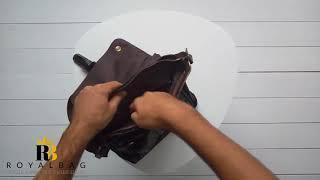 Кожаная мужская сумка Bexhill / обзор / Royalbag / BX1292DB