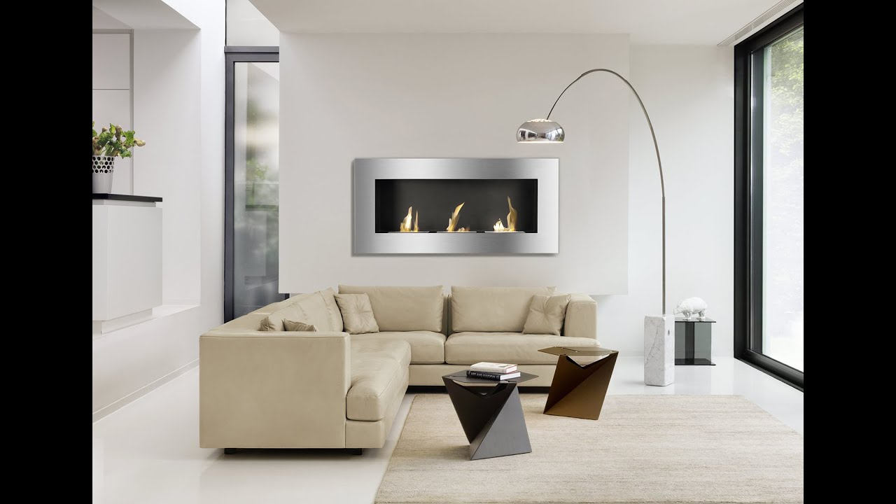 optimum wall mounted ethanol fireplace by ignis youtube