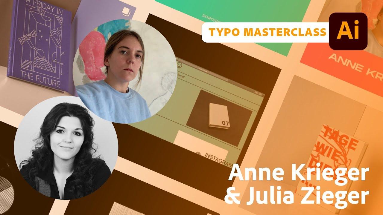 Typografie Masterclass mit Anne Krieger und Julia Zieger  Adobe Live