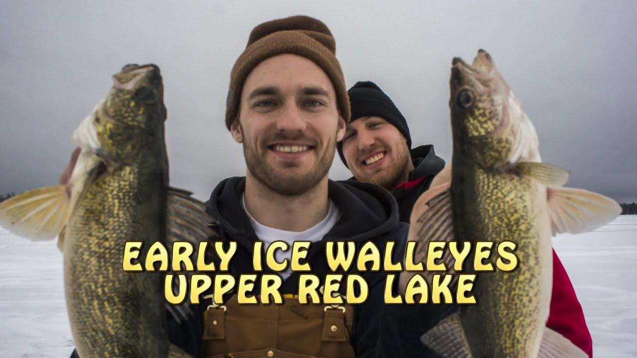 Walleye fishing red lake mn 12 20 2015 youtube for Upper red lake fishing report