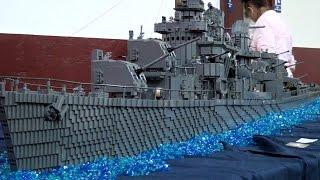 LEGO USS Nicholas Brickmania ship - BrickFair Virginia 2014