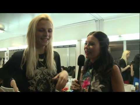 Supermodel Andrej Pejic Interview Backstage With Yvette King - #DigitalFashionWeek Singapore 2012
