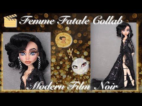 Femme Fatale Collab FT. KyrosWorkshop   Film Noir   Custom Art Doll   OOAK Repaint   Doll Repaint