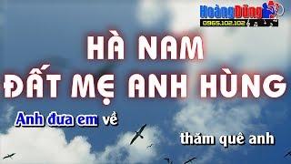 Hà Nam Đất Mẹ Anh Hùng karaoke nhạc sống cha cha cha